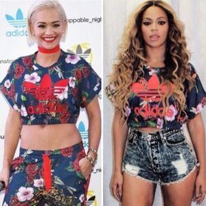 Adidas Rita Ora Roses Crop Top